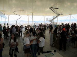 Workshopstimmung auf der Terrasse des Stavros Niarchos Cultural Centers